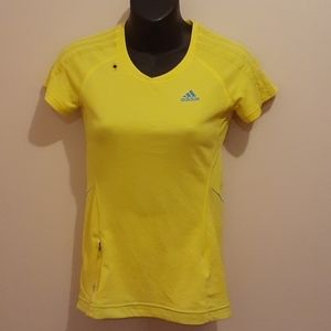 👚3 for $25👚 Adidas Yellow Sports Tee 🇨🇦Size XS
